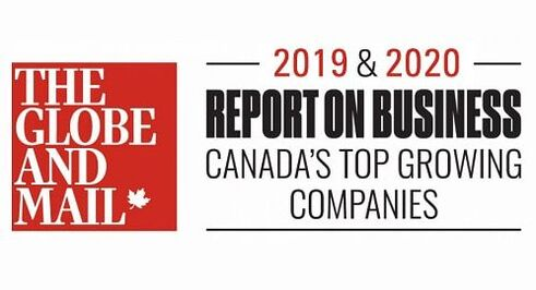 Globe and Mail's Canada's Top Growing Companies